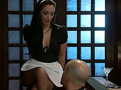Brunette Feet Mistress Maid
