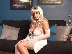 Amateur Big Boobs Blonde Lingerie MILF