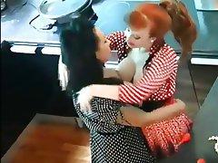 Brunette Lesbian Redhead Stockings