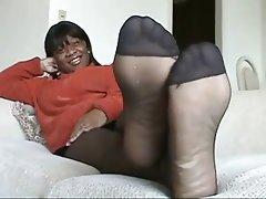 Amateur Foot Fetish Nylon Stockings