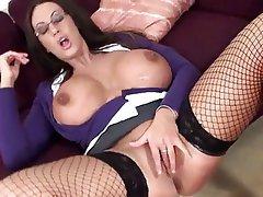 Big Boobs British Masturbation MILF Pornstar