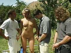 Anal Blonde Group Sex Outdoor