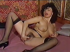 Hairy Masturbation Stockings Vintage