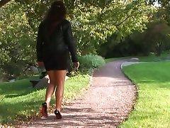 Brunette Outdoor Foot Fetish Nylon