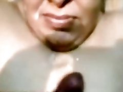 Cumshot Facial Indian Mature