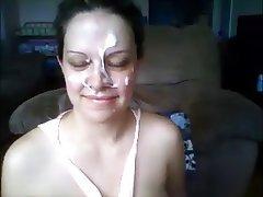 Amateur Big Boobs Cumshot Facial Webcam