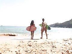 Anal Beach Brazil Cumshot