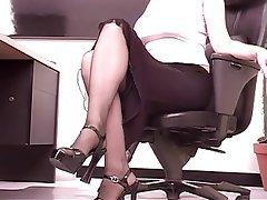 Masturbation Brunette Nylon Anal