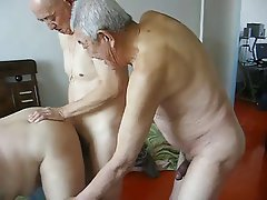 Big Boobs Chinese Granny Group Sex