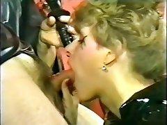 Brunette Femdom German Latex Vintage