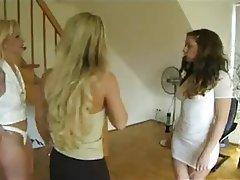 Femdom Lesbian Threesome