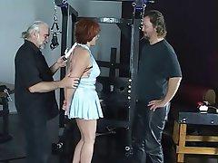 BDSM Threesome Mature Redhead