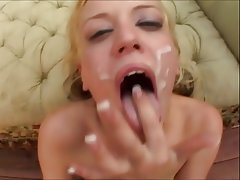 Blonde Cumshot Facial Pornstar