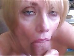 Amateur Blonde Facial Mature