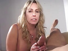 Blowjob Facial Blonde Mature
