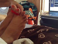 BBW Foot Fetish Mature MILF Tattoo
