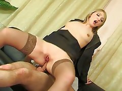 Babe Orgasm Softcore Stockings