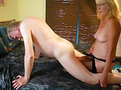 Cumshot Old and Young Anal German