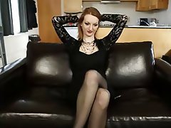 Big Boobs Masturbation MILF Redhead Stockings