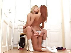 Babe Blonde Lesbian Redhead
