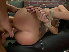 Hardcore Rough Brunette Bondage
