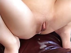 Brunette Creampie Swinger Threesome