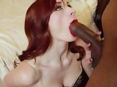 Blowjob Interracial Pornstar Redhead