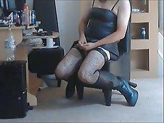 British Latex Masturbation Stockings