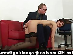 Masturbation Secretary Spanking Stockings