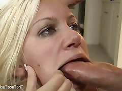 Blonde Blowjob Cumshot Facial