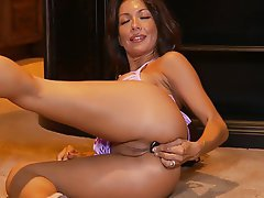 Anal Brunette Masturbation Orgasm