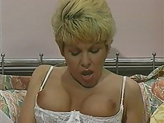 Anal Blonde Double Penetration Nylon