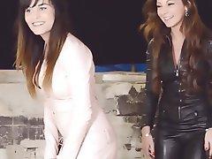 Femdom French Latex Lesbian