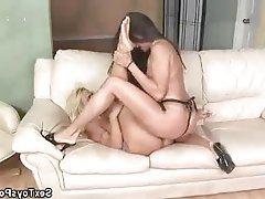 Babe Big Boobs Lesbian Strapon