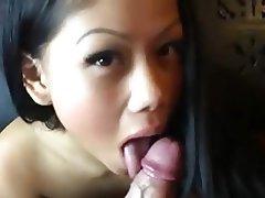 Asian Blowjob Brunette Handjob