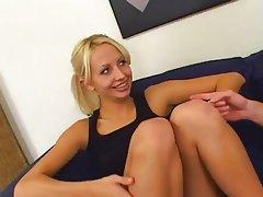 Blonde Blowjob Threesome