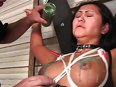 BDSM Asian Brunette Latex