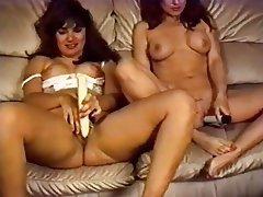 Cunnilingus Group Sex Hairy Lesbian Strapon