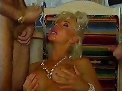 Babe Blonde Double Penetration MILF Stockings