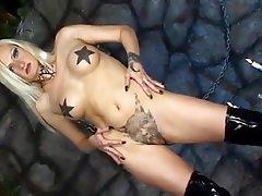 Latex Lesbian Masturbation Tattoo