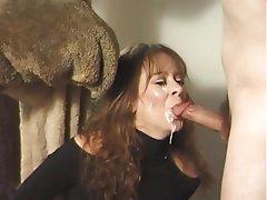 Amateur Brunette Cumshot Facial