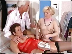 Anal Hairy Mature Threesome