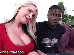 Big Boobs Blonde Interracial MILF