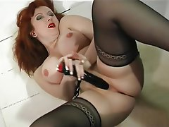 MILF Nylon Redhead Stockings