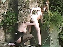 Cunnilingus Group Sex Lesbian Stockings Vintage