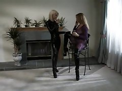 Lesbian Big Boobs Threesome Latex