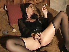 Latex Masturbation Stockings