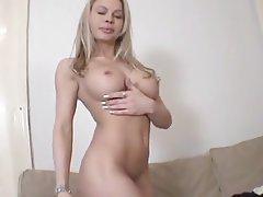 Babe Big Boobs Blonde Casting Czech