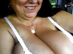BBW Big Boobs Granny Handjob