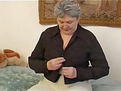 BBW Granny Hairy Masturbation